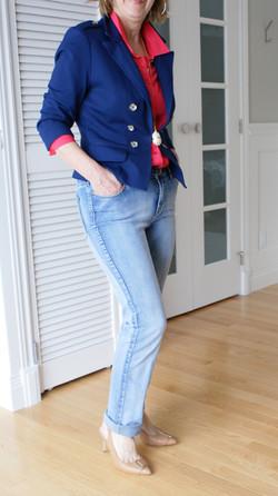 Une fille, un jeans...