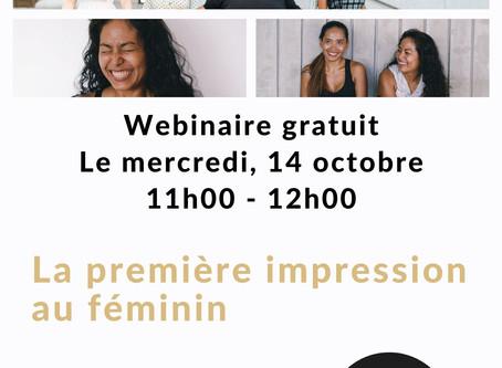 """Conférence """"La première impression au féminin"""""""