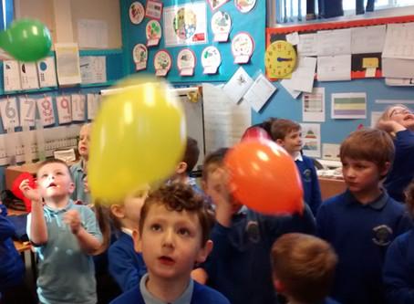 A rainbow of beautiful balloons!