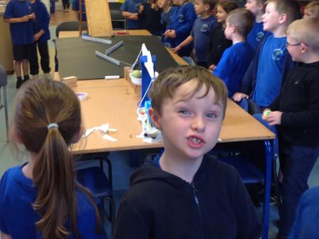 Willow's Rube Goldberg Machine- aka ' Chain Reaction Contraption'!