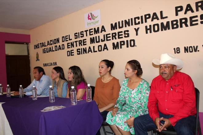 LLEVAN A CABO INSTALACIÓN DEL SISTEMA MUNICIPAL PARA LA IGUALDAD ENTRE HOMBRES Y MUJERES EN EL MUNIC