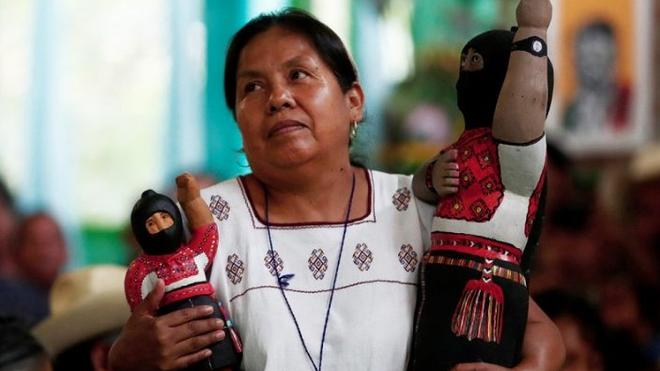 El congreso nacional indigena (CNI) designo a maria de jesus patricio martinez medico tradicional de