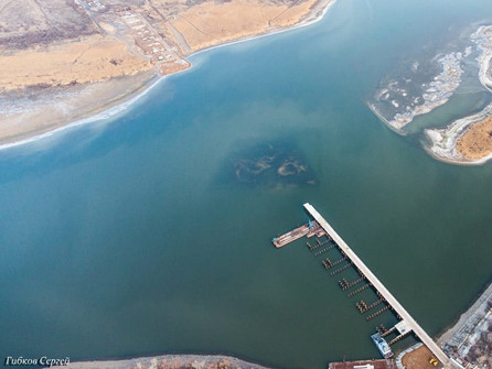 Технологический мост «выполз» на середину Сухо-Соленовского залива
