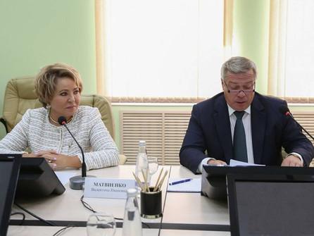 Валентина Матвиенко пообещала поддержку Совета Федерации в решении проблем Цимлянского водохранилища
