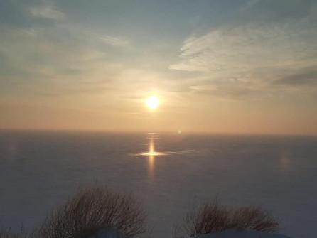 Необычное оптическое явление над Цимлянским водохранилищем удивило местных жителей