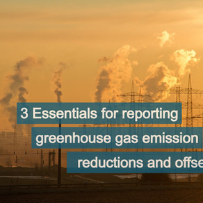 Reporting greenhouse gas (GHG) emission reductions and offsets.