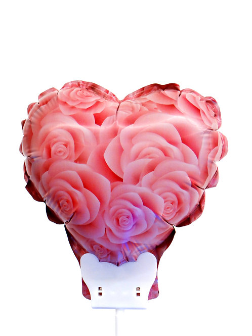 Balão Inflável - Coração de Rosas