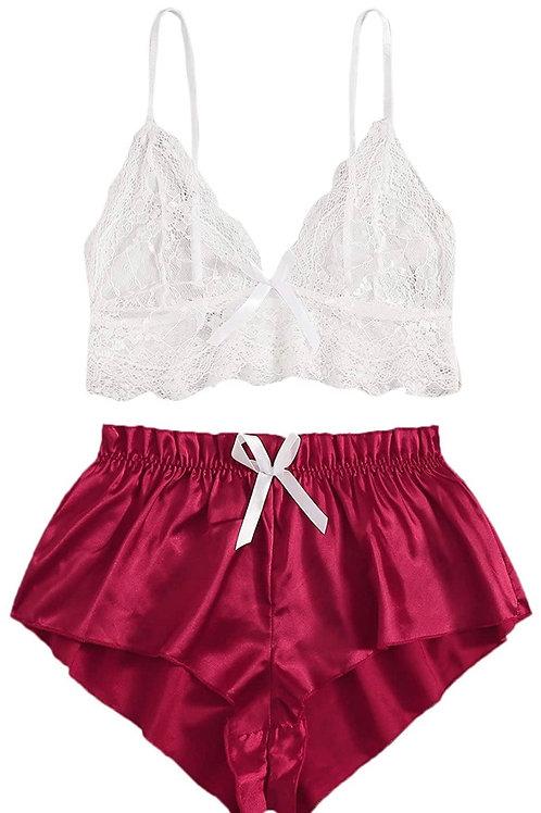 White & Wine Red