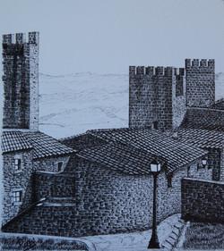 Cerco de Artajona  III  ( Navarra ) - Código  0509152- Mancha 30 x 34 cm