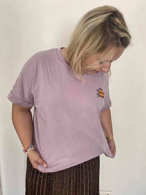 Tee shirt vintage lila
