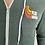 Thumbnail: Sweat-shirt à capuche zippé vert chiné logo racer