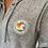 Thumbnail: Sweat-shirt à capuche zippé peluche gris chiné Unisexe