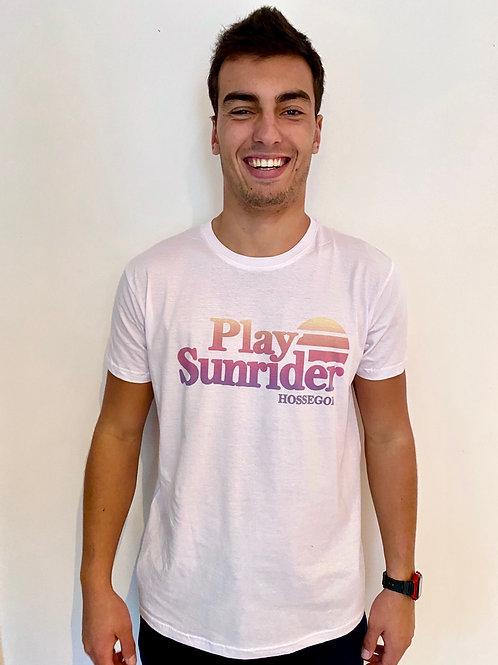 Tee-Shirt sublimation play sunrider blanc