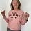 Thumbnail: Sweat-shirt loose rose Play Hossegor Club