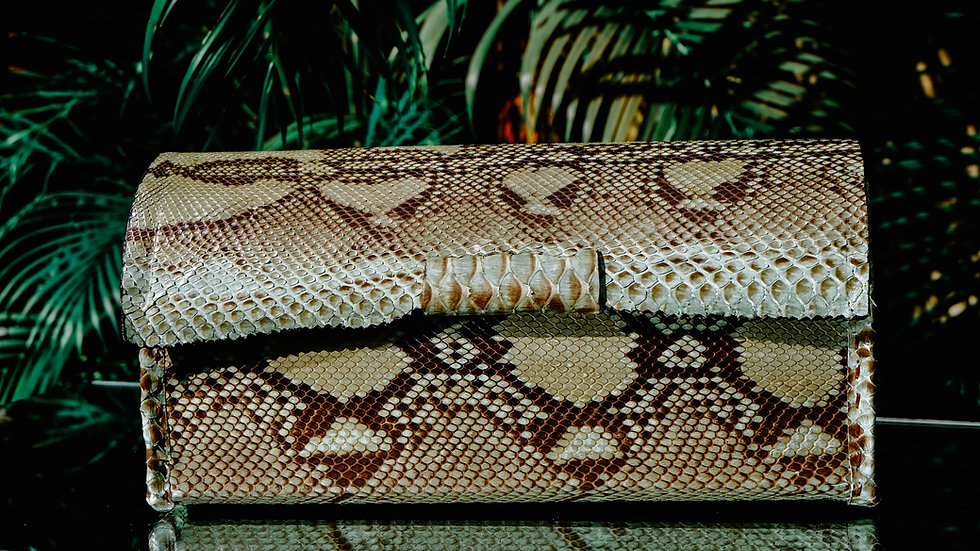 Green Python Clutch/Purse