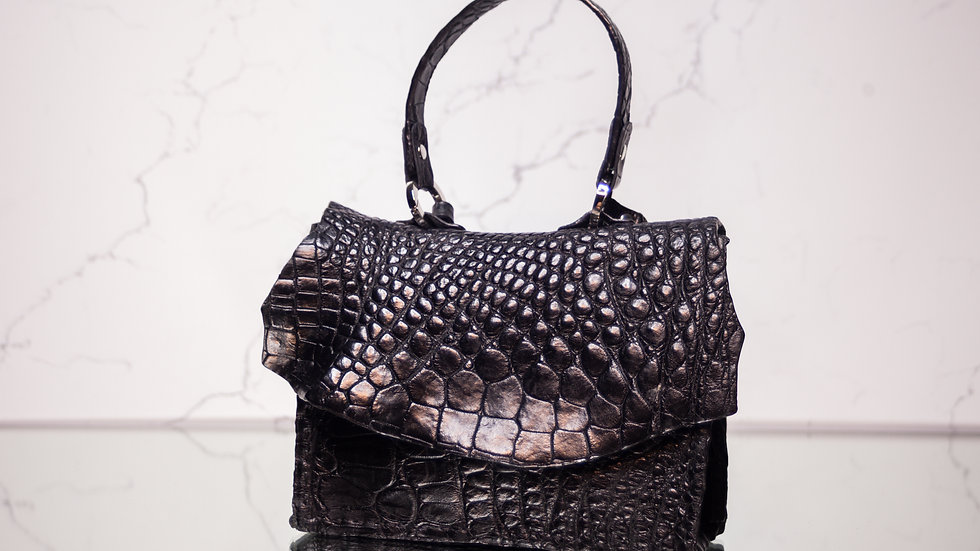 Mini MW Black Alligator Handbag