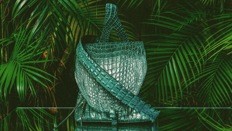 Emerald Green Alligator Backpack