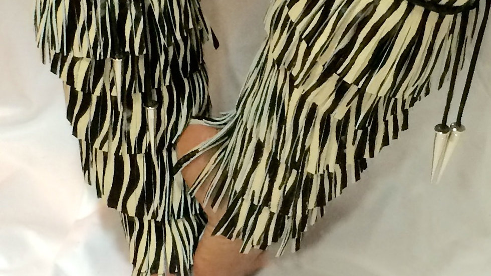 The Mina Wild Hair-On Cowhide Shoe Enhancer