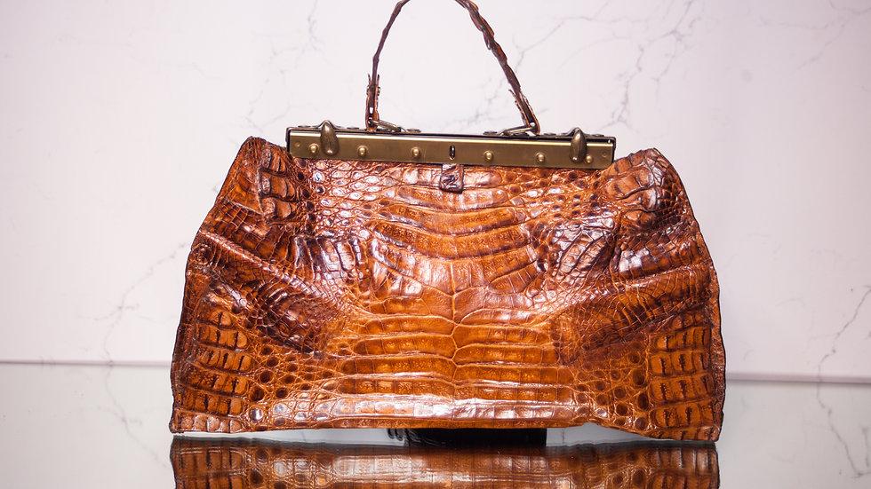 Honey Brown Cayman Handbag
