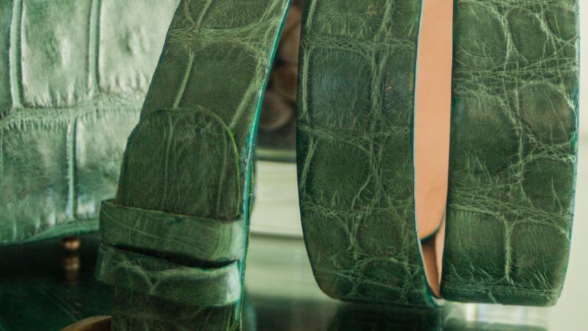 Emerald Green Alligator Belt