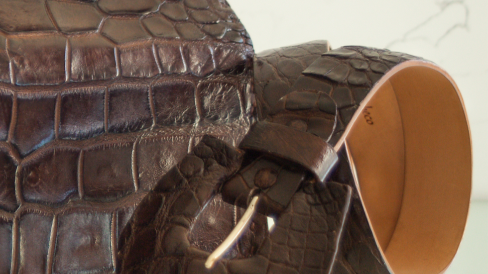 Brown Alligator Belt