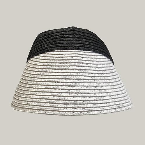 Visière Julia Noir & blanc