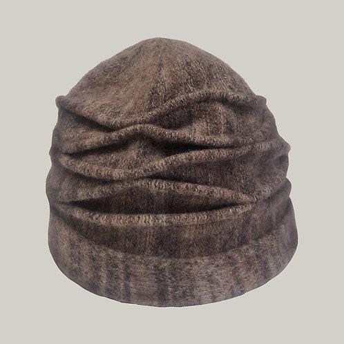 Toque laine mélangée Camel