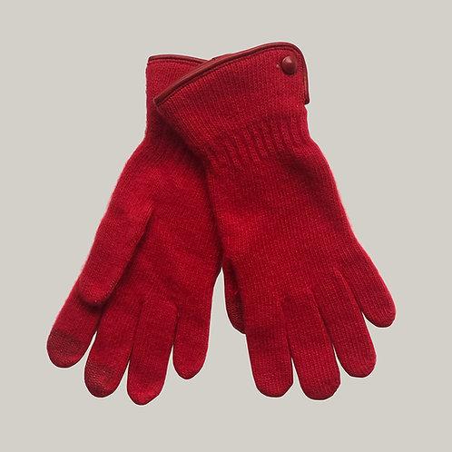 Gants laine et angora Rouge/Rouge