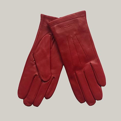Gants en cuir Rouge