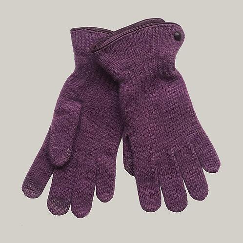Gants laine et angora Violet/Amethyst