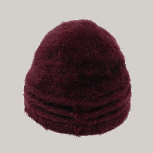 Bonnet Angora Bordeaux