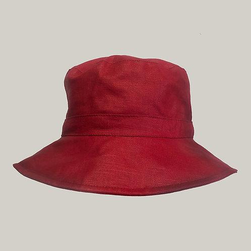 Bob de pluie, taille ajustable (59 vers 57), Rouge
