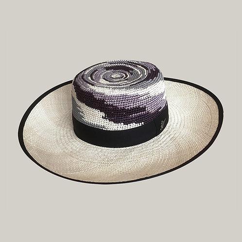 Lady Classic Mix Crochet-Brisa Polychrome, ruban noir