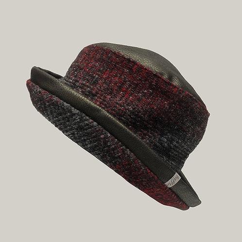 Chapeau Lochness Rouge/Noire