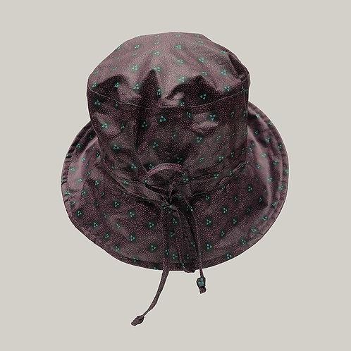 Bob de pluie, taille ajustable Violet imprimé