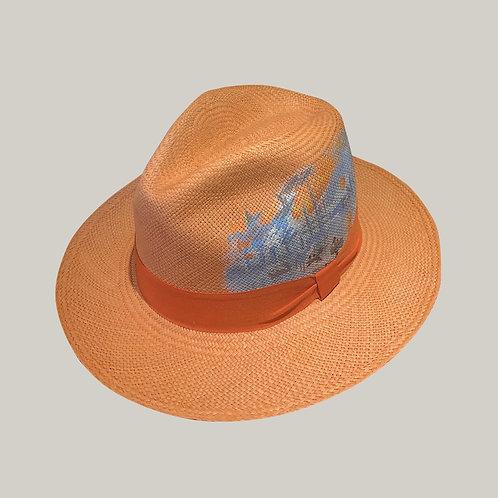 Classique Soleil Levant (peint à la main) Orange