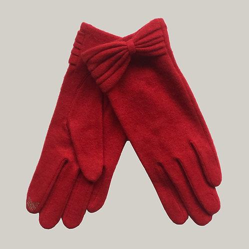 Gants laine et cachemire  Rouge
