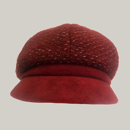 Casquette gavroche Elorine Rouge/rouge