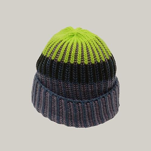 Bonnet tricoté Jeans/olive