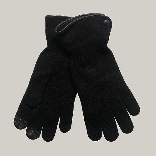 Gants laine et angora Noir/Noir