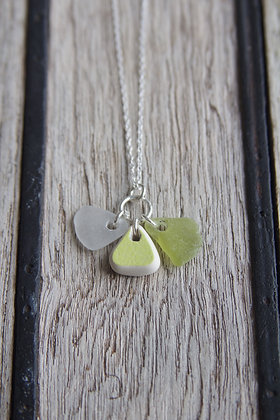 Lime Green Challaborough Cluster Necklace