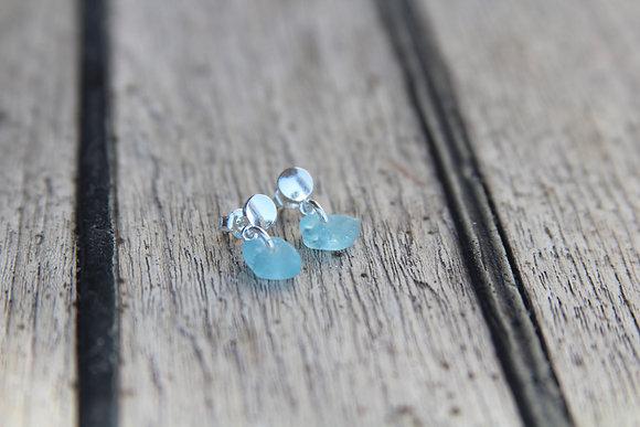 Simple Turquoise Blue Stud Earrings