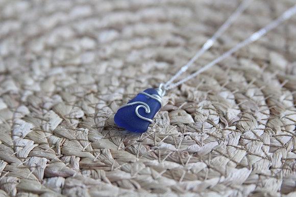 Cobalt Blue Signature Wave Necklace