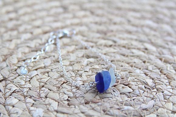 Cobalt Blue Tones Cluster Bracelet