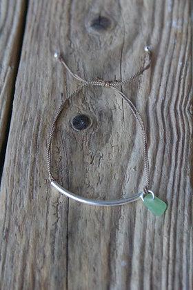 Delicate Light Green Silk Bracelet