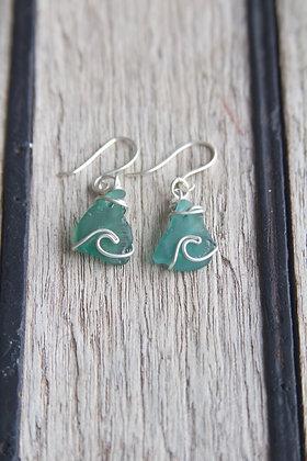 Seafoam Bantham Wave Earrings