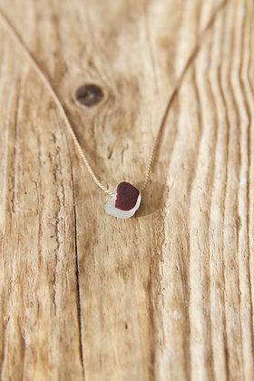 Ultra Rare Multi Coloured Red Silk Necklace
