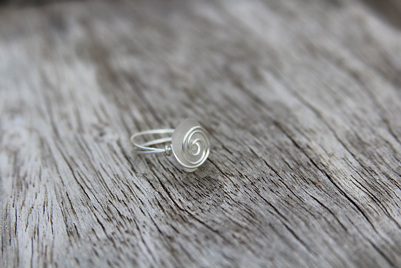 Clear Spiral Ring
