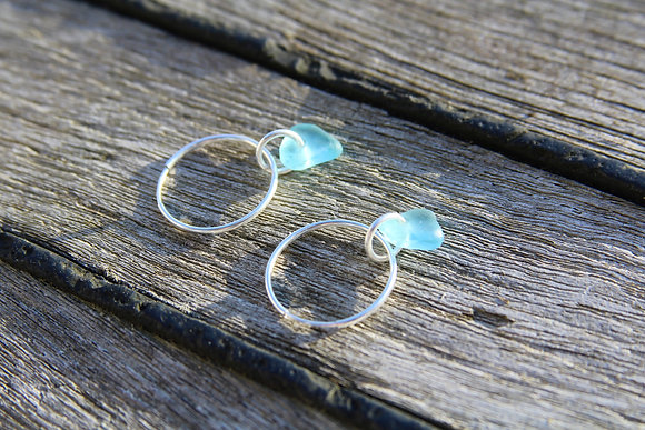 Turquoise Endless Hoops