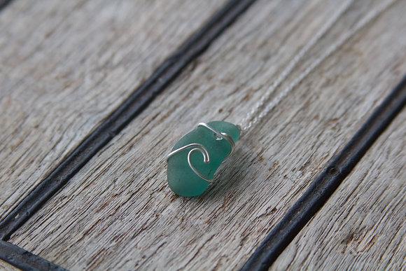 Seafoam Wave Necklace